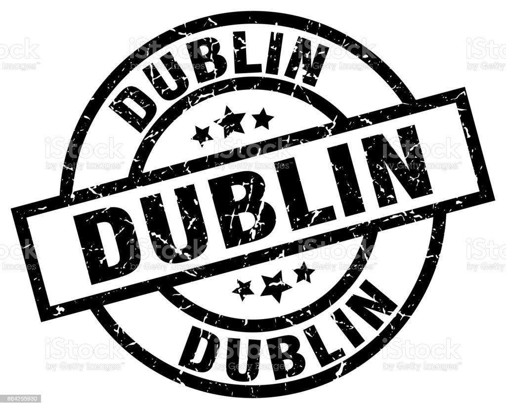 Dublin black round grunge stamp royalty-free dublin black round grunge stamp stock vector art & more images of badge