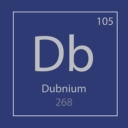 Dubnium Db chemical element icon