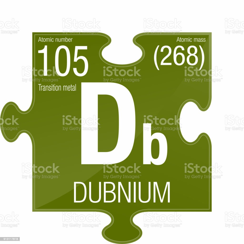 Dubnium Symbol Element Number 105 Of The Periodic Table Of The