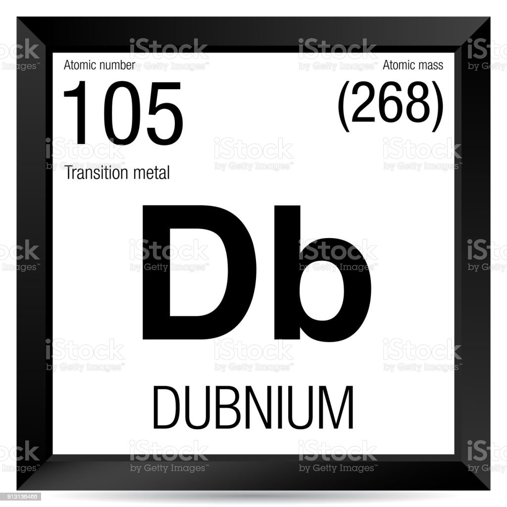Dubnium symbol element number 105 of the periodic table of the element number 105 of the periodic table of the elements chemistry royalty urtaz Image collections
