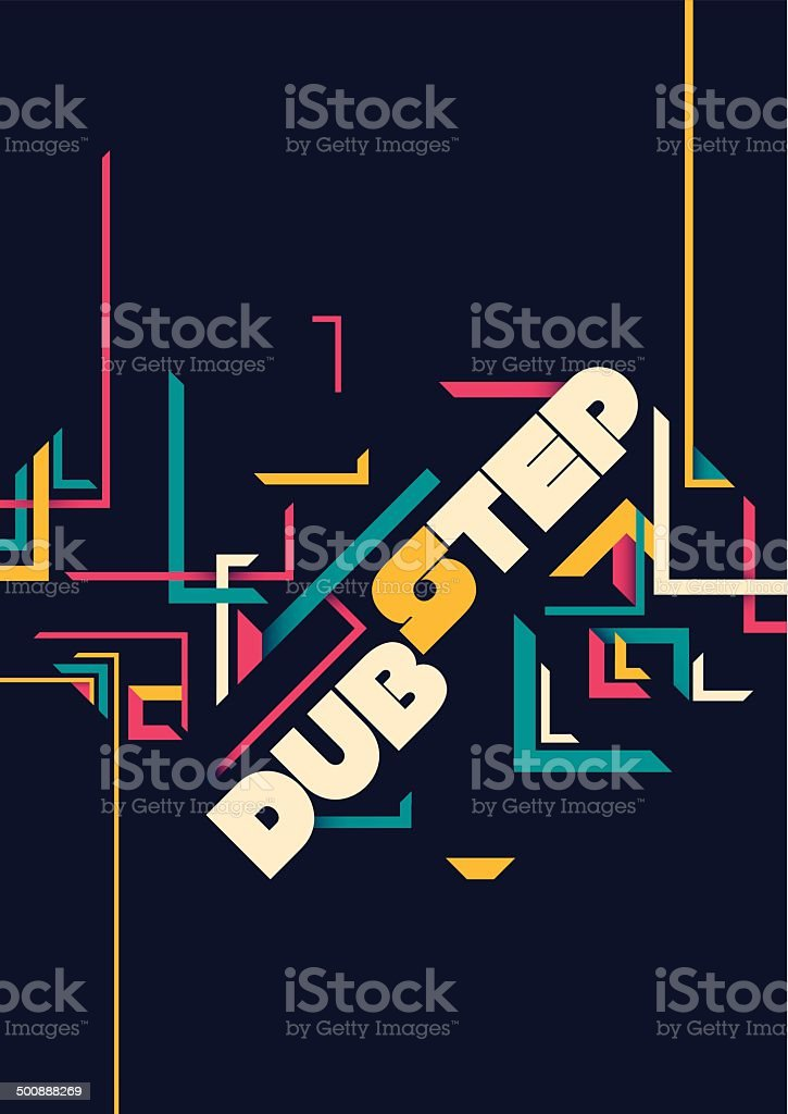 Dubstep poster design. vector art illustration