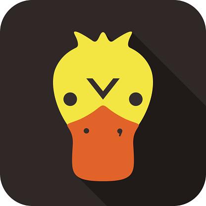 Duck animal face  flat design