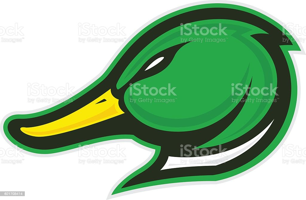Duck head mascot vector art illustration