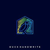 Duck House Illustration Vector Template. Suitable for Creative Industry, Multimedia, entertainment, Educations, Shop, and any related business.