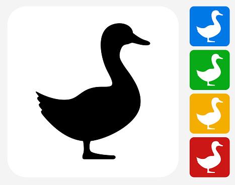 Duck Icon Flat Graphic Design