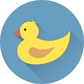 Duck icon in flat style