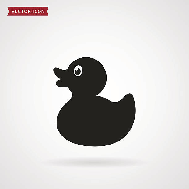 Duck icon. Rubber duck icon isolated on white background. Baby toy. Vector illustration.. duckling stock illustrations