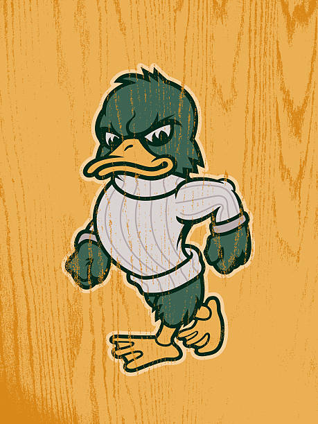Duck Mascot vector art illustration