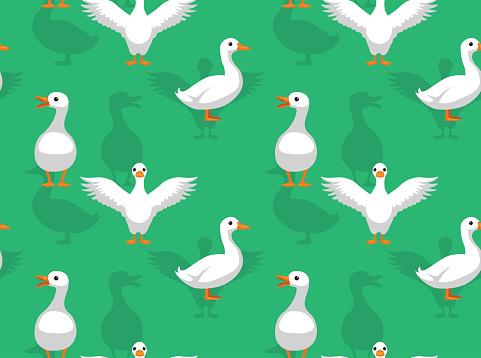 Duck Pekin Cartoon Seamless Wallpaper