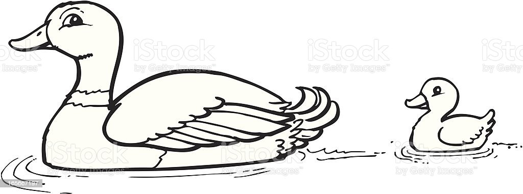 Duck royalty-free stock vector art