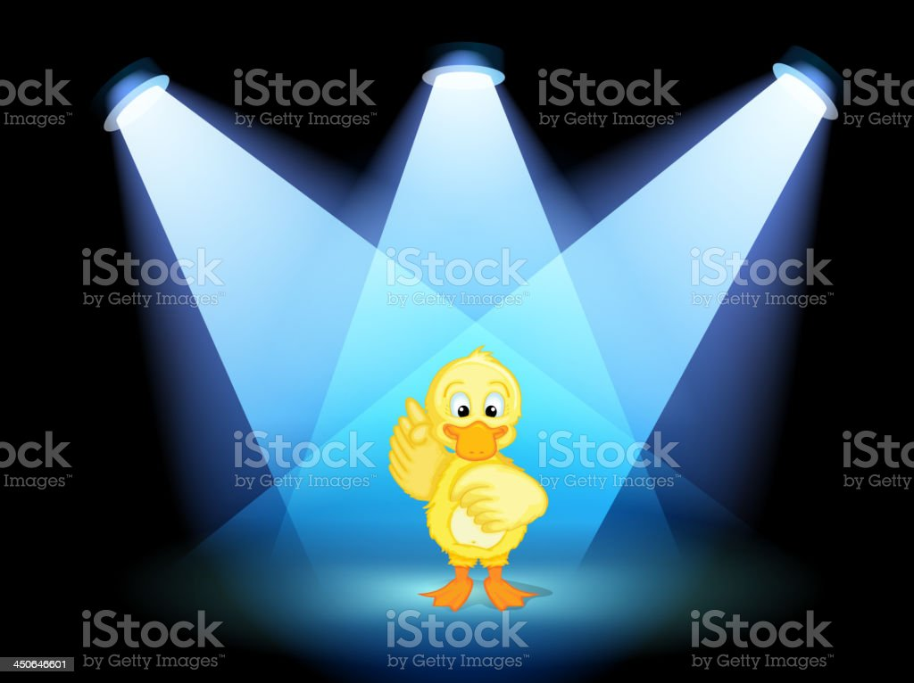 duck with spotlights royalty-free stock vector art