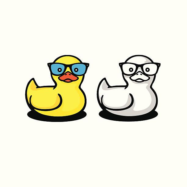 entenküken in sonnenbrille - entenhaus stock-grafiken, -clipart, -cartoons und -symbole