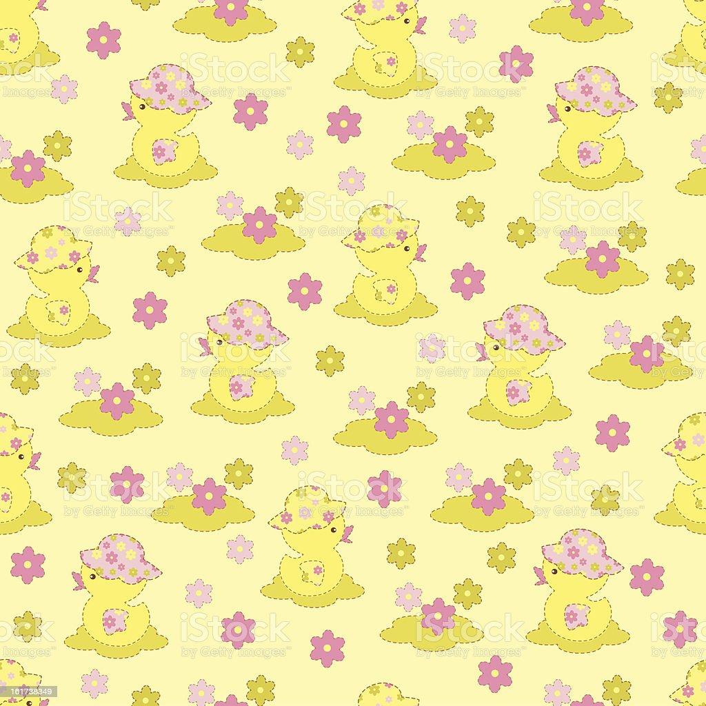 Duckling seamless royalty-free stock vector art
