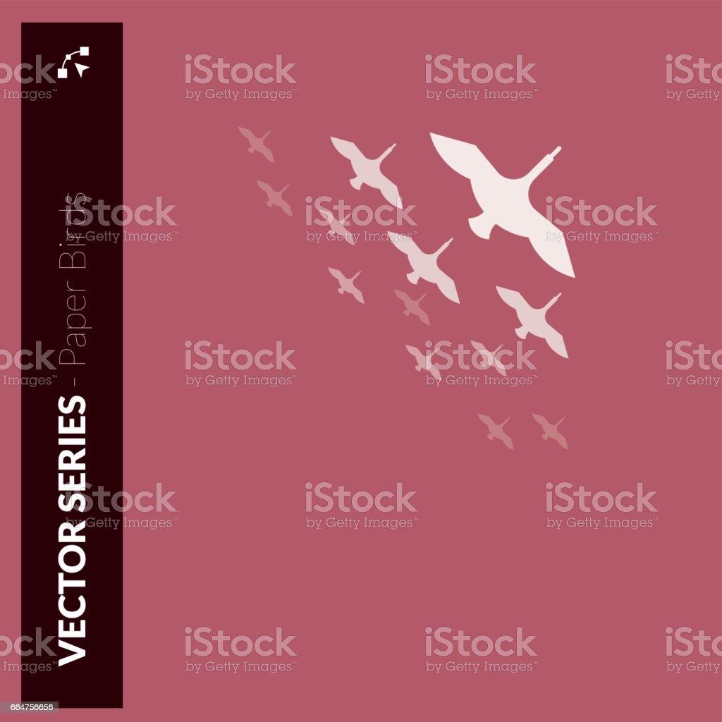 Ducks flock vector art illustration