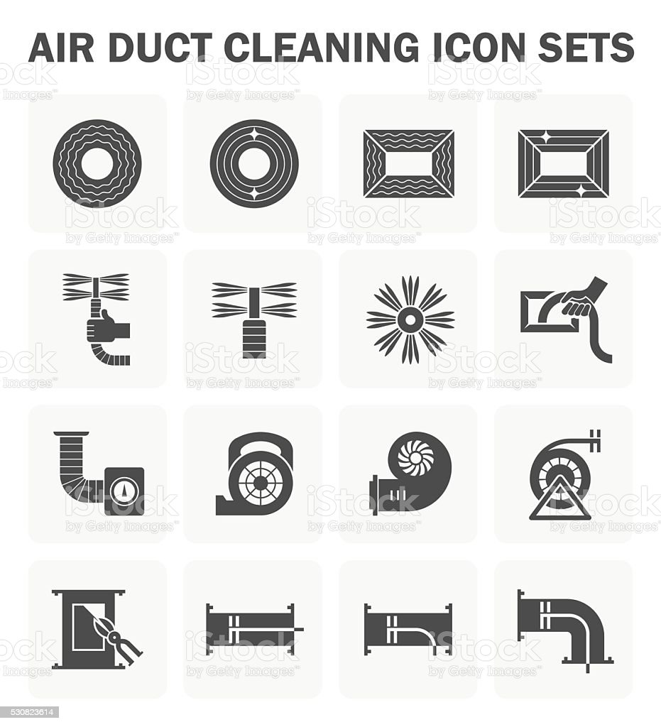 Duct clean icon vector art illustration