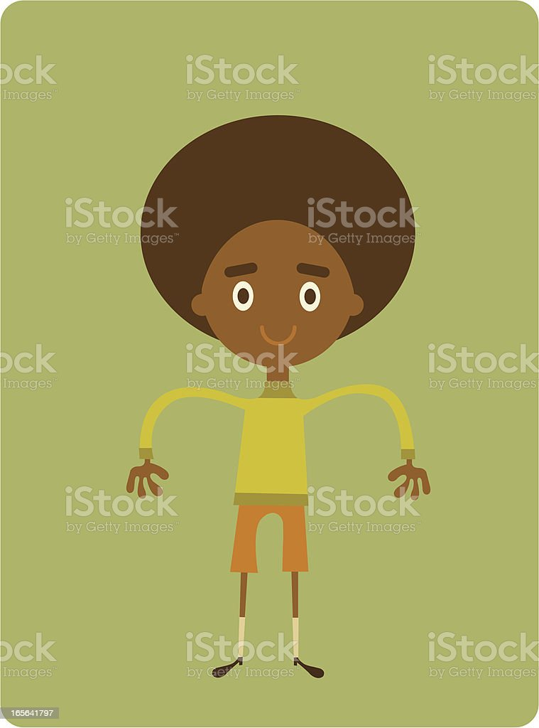 Dude in New Duds royalty-free stock vector art