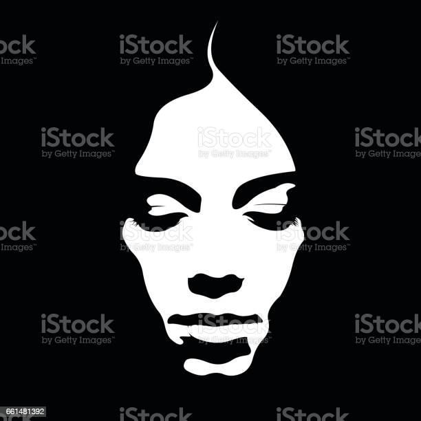 Due tone retro style poster of woman face looking down vector id661481392?b=1&k=6&m=661481392&s=612x612&h=9lhci0zfnlrry8vu7byj75sup uaiim9 axjfwbx dm=