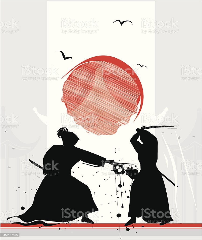 duel royalty-free stock vector art