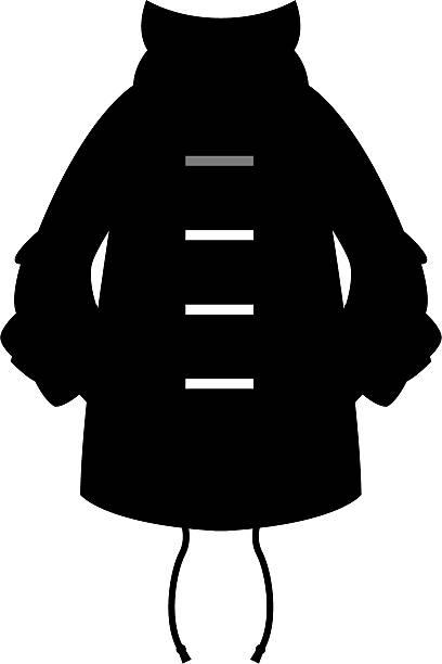 dufflecoat-parka silhouette  - parkas stock-grafiken, -clipart, -cartoons und -symbole