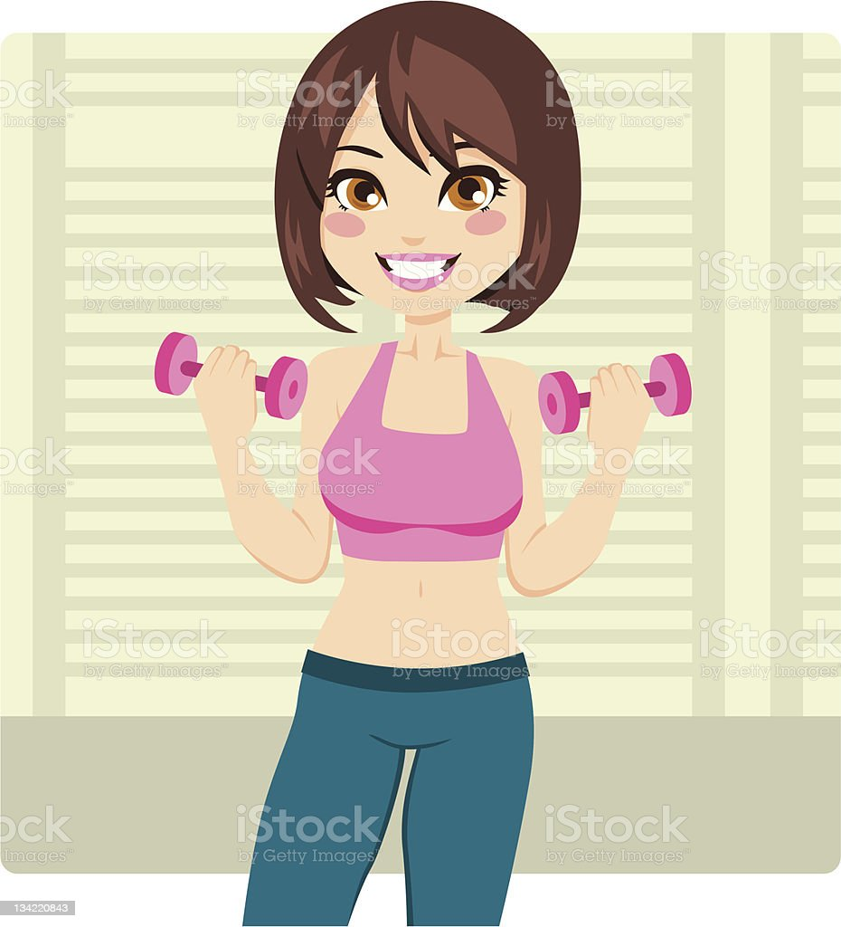 Dumbbell Fitness royalty-free dumbbell fitness stock vector art & more images of activity