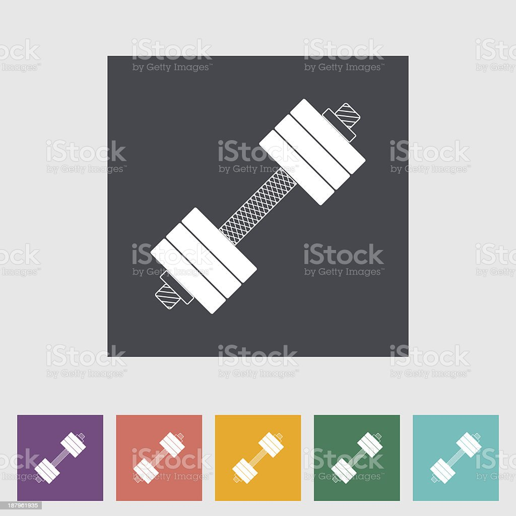 Dumbbell flat icon. royalty-free stock vector art