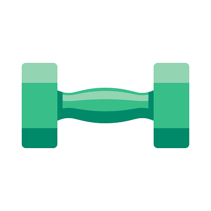 Dumbbell Icon on Transparent Background