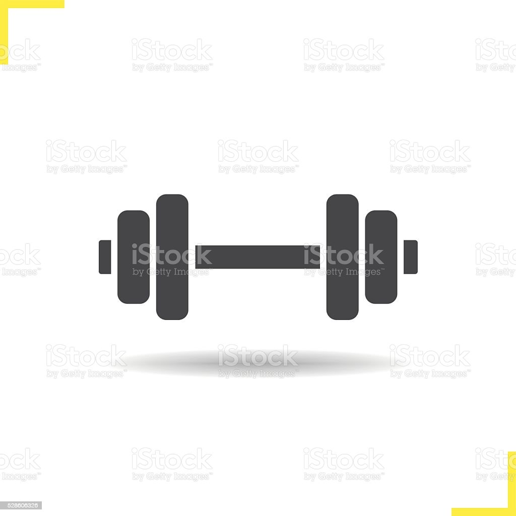 Dumbbell Icon Vector Royalty Free Dumbbell ...