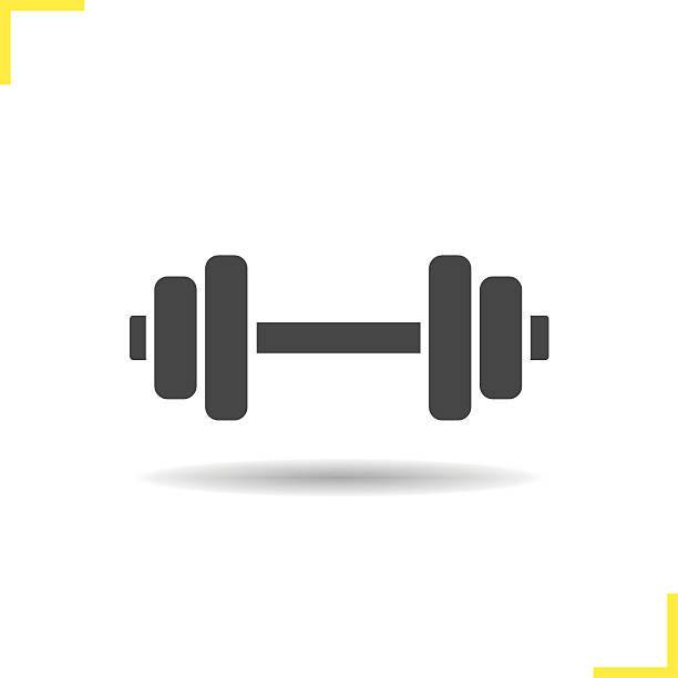 Dumbbell Icon Vector Royalty Free Du...