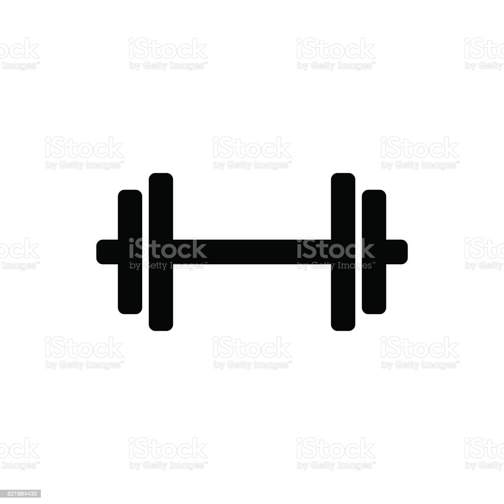 Dumbbell icon. Vector illustration vector art illustration