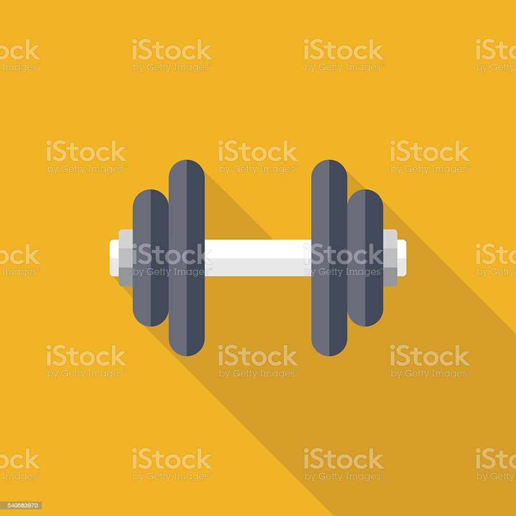 Dumbbell vector art illustration