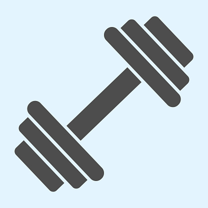 Dumbbells solid icon. Heavy weights barbel. Sport vector design concept, glyph style pictogram on white background, use for web and app. Eps 10