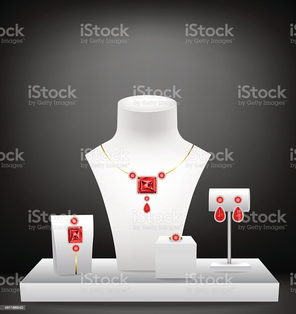 Dummies for jewelry vector art illustration