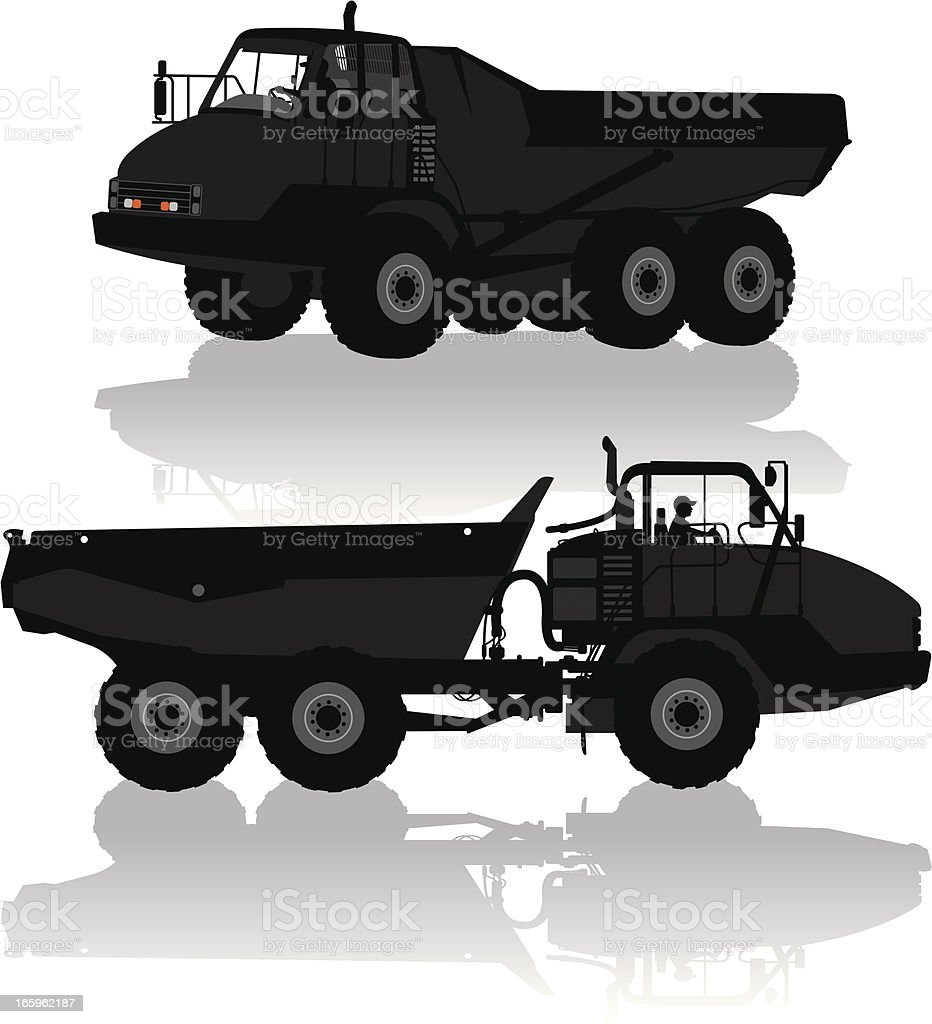 Dump Truck - Construction Vehicle royalty-free dump truck construction vehicle stock vector art & more images of construction equipment