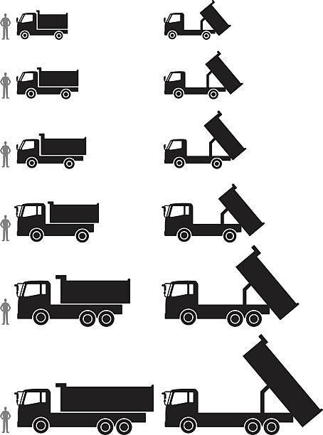 Dump Truck Sizes Illustrations, Royalty-Free Vector Graphics