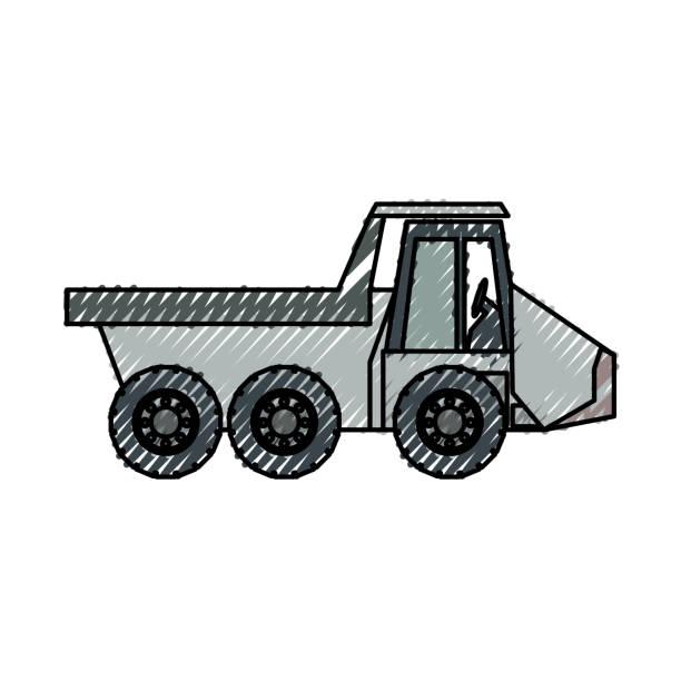 Dump Truck Vector Illustratio Art Illustration