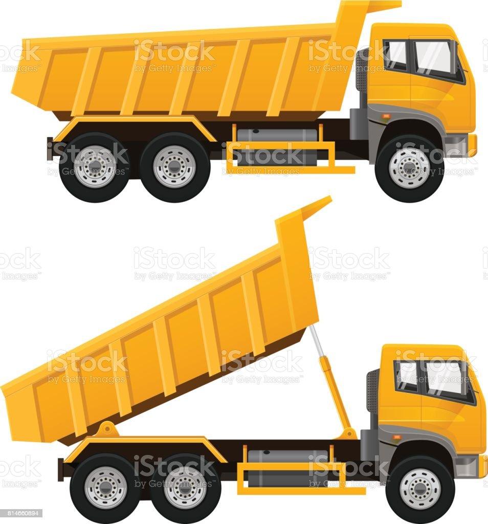 Dumper Truck. Vector illustration. vector art illustration