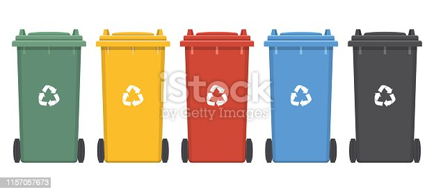 Beautiful vector design illustration of dumpster for trash isolated on white background
