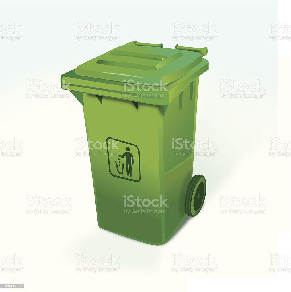 Contenedor de basura vector art illustration