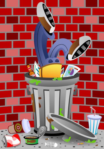 Dumpster_Dive vector art illustration