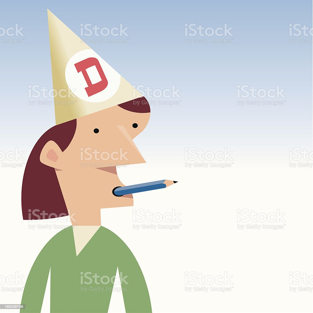 Dunce royalty-free stock vector art