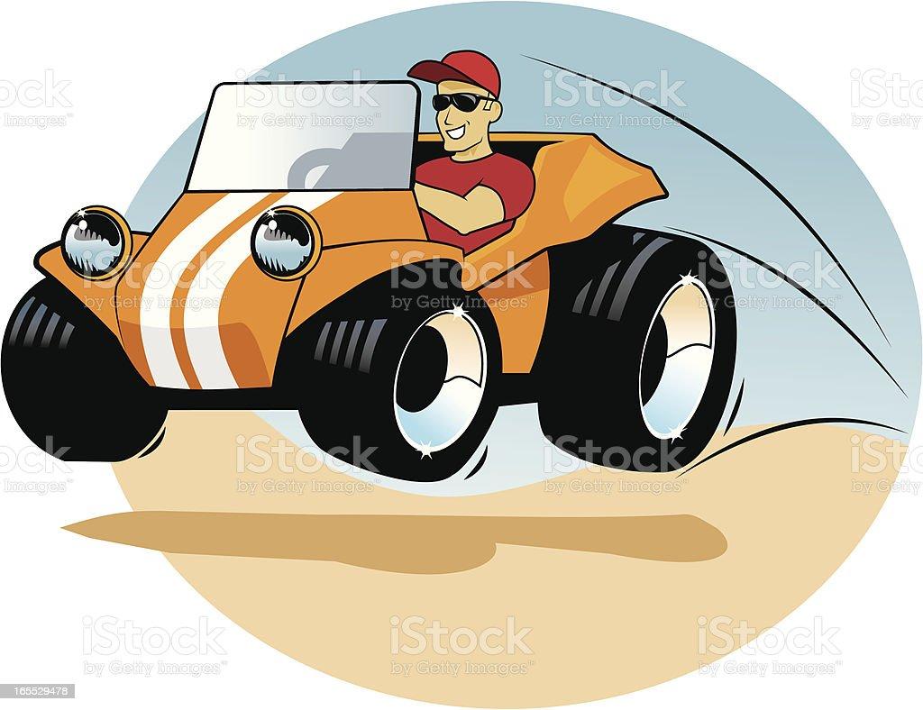 Dune Buggy Guy vector art illustration