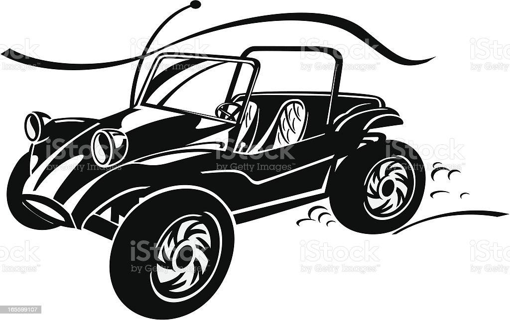 Dune Buggy vector art illustration