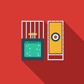 Dunk Tank Flat Design April Fools Day Icon