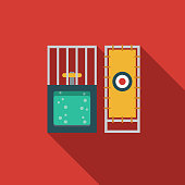 Dunk Tank Flat Design Carnival Icon with Side Shadow