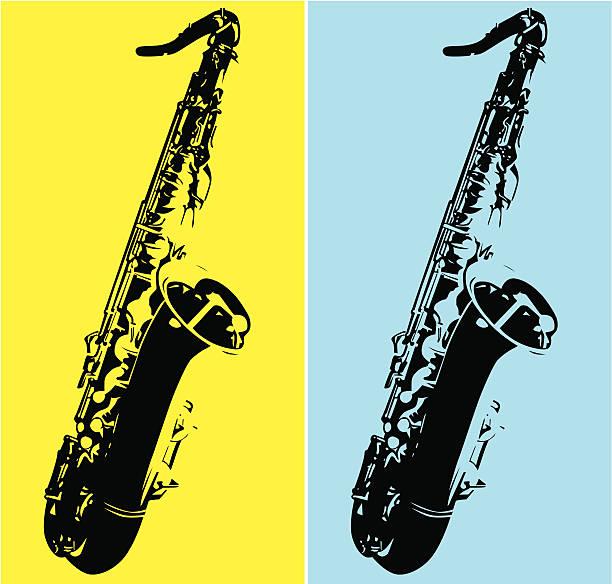 ilustrações de stock, clip art, desenhos animados e ícones de saxofone tenor @item: inlistbox - saxofone