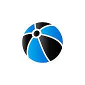 Beach ball icon in duo tone color. Playing, inflatable, kids