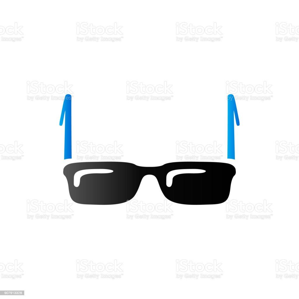 Duo Tone Icon - Eyeglasses vector art illustration