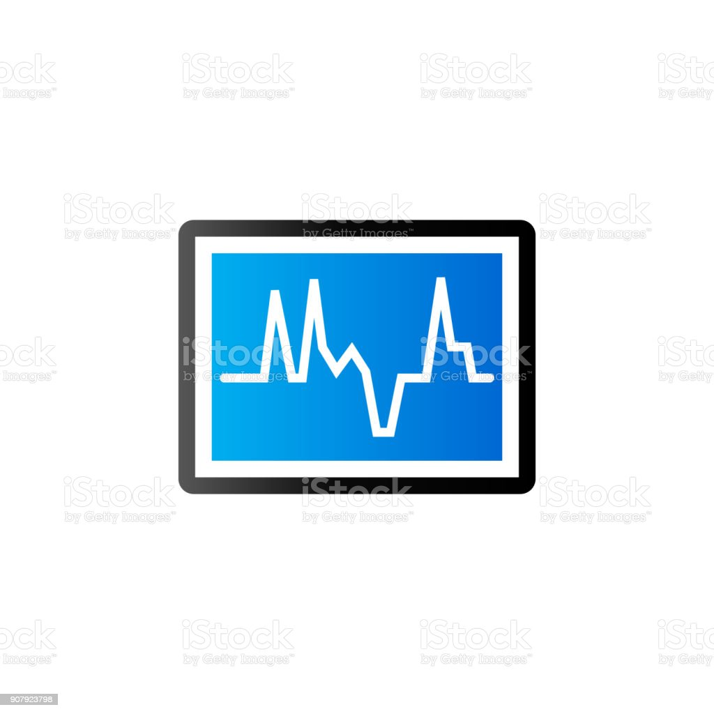 Duo tone icon heart rate monitor stock vector art 907923798 istock duo tone icon heart rate monitor royalty free stock vector art nvjuhfo Choice Image