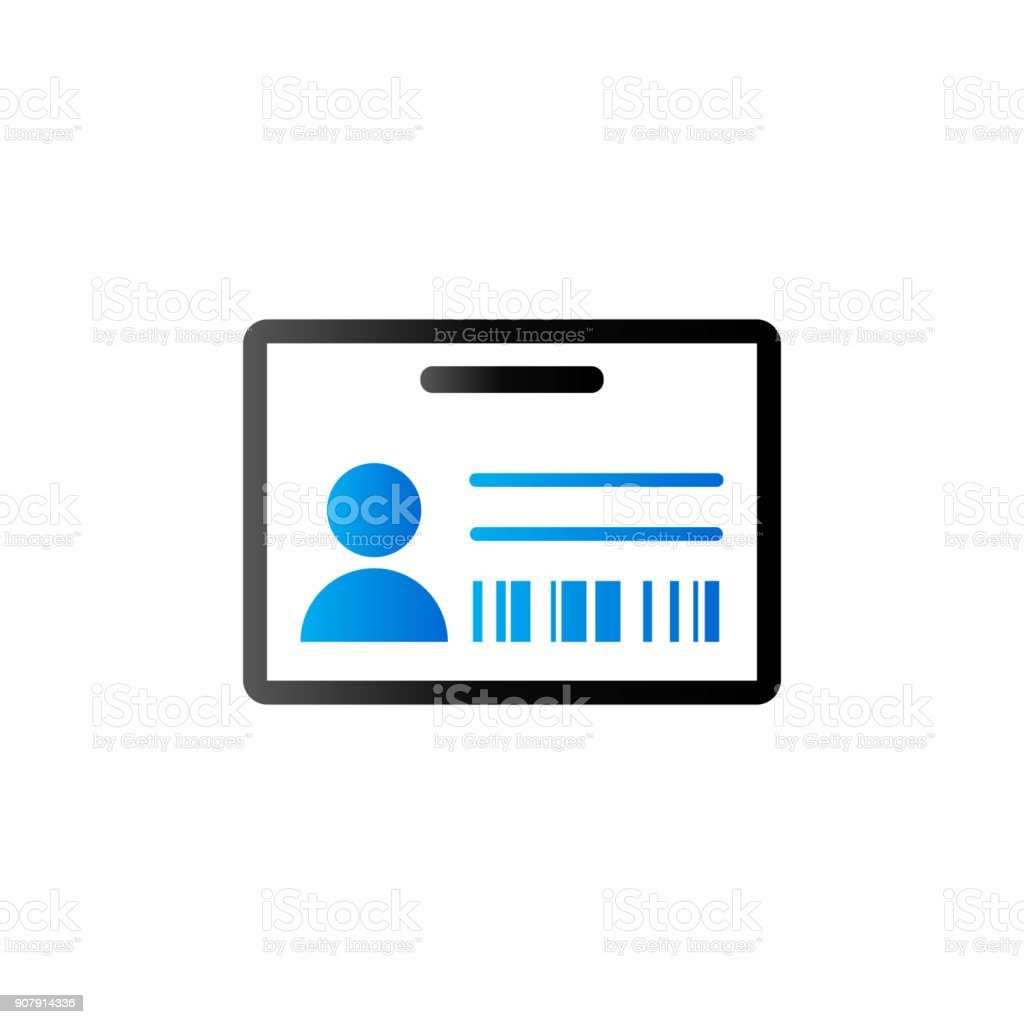 Duo Tone Icon - ID Card vector art illustration