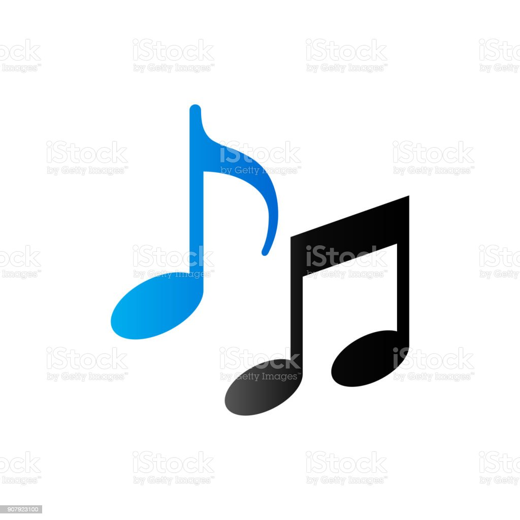 Duo Tone Icon - Music notes vector art illustration